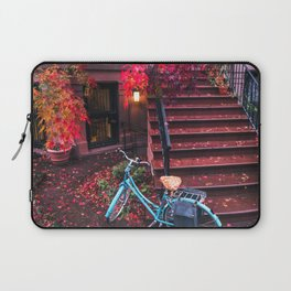 New York City Brooklyn Bicycle and Autumn Foliage Laptop Sleeve
