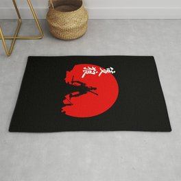 The One Armed Wolf Rug