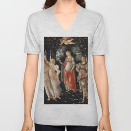 Sandro Botticelli - Spring (La Primavera) Unisex V-Neck