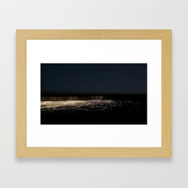 Transposed scenery - Suburb by the lake Framed Art Print