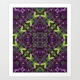 Acid Trip Fractal Kaleidoscope 2 Art Print