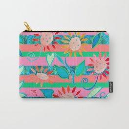 zakiaz flower stripe Carry-All Pouch