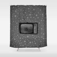 tv Shower Curtains featuring Television by Mr & Mrs Quirynen