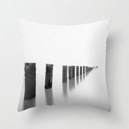 Sea Pillars II Throw Pillow