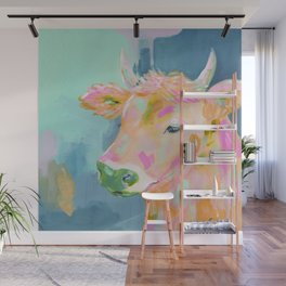 cow abstract painting Wall Mural
