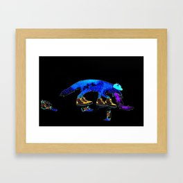 Drunk Fox Framed Art Print