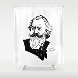 Johannes Brahms Shower Curtain