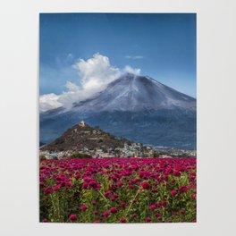 Popocatepetl Volcano Puebla Mexico Poster