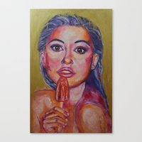popsicle Canvas Prints featuring Popsicle by Artsy Kat
