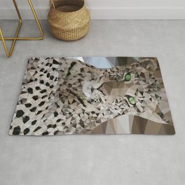 Leopard lowpoly Rug
