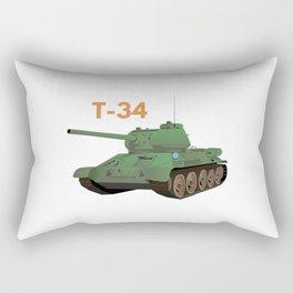 Soviet T-34 Tank Rectangular Pillow