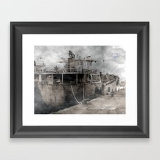 Ghost Ship Framed Art Print
