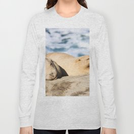 Sleepy Sea Lion Long Sleeve T-shirt