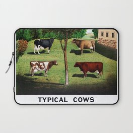 Typical Cows Laptop Sleeve