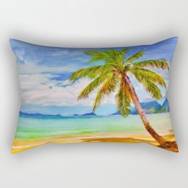 Single Swaying Palm Rectangular Pillow