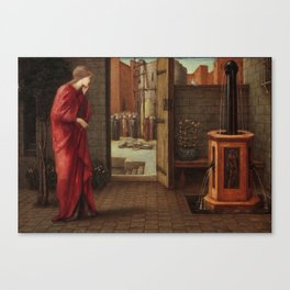 "Edward Burne-Jones ""Danaë Watching the Building of the Brazen Tower"" Canvas Print"