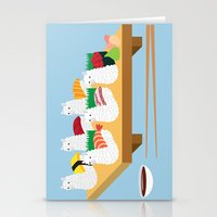 alpaca Stationery Cards featuring Alpaca Sushi by Inappropriately Adorable