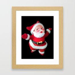 Retro Santa Ornament  Framed Art Print