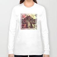 zebra Long Sleeve T-shirts featuring ZEBRA by Nechifor Ionut