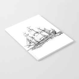 sailing ship . Home decor Graphicdesign Notebook