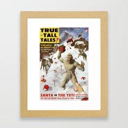 SANTA vs THE YETI Framed Art Print
