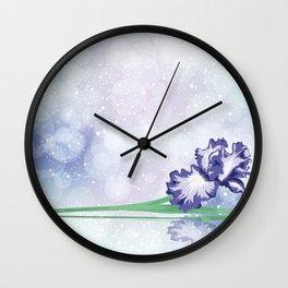 Simply...Iris Wall Clock