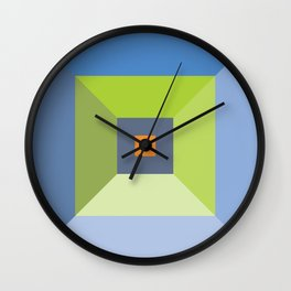 Birdseye Pyramid Wall Clock