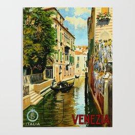 Venezia - Venice Italy Vintage Travel Poster