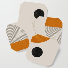 Abstract Geometric Shapes Coaster
