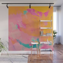 full color abstract sunset Wall Mural