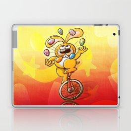 Bunny Juggling Easter Eggs Laptop & iPad Skin