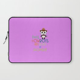 Real Cowboys are born in December T-Shirt D31x2 Laptop Sleeve