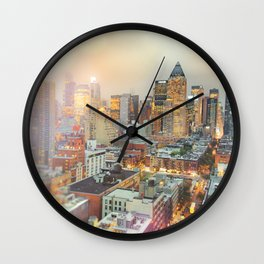 All Those Lights, They Shine For You - New York City Wall Clock