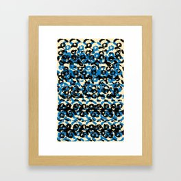 Black and Blue Framed Art Print