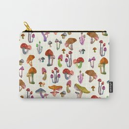 small mushrooms Carry-All Pouch