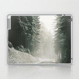 Forest Road In Winter Laptop & iPad Skin