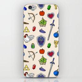 Zelda pattern iPhone Skin
