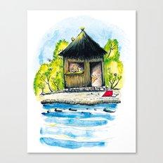 Maison de paille Canvas Print