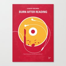 No547 My Burn After Reading minimal movie poster Canvas Print