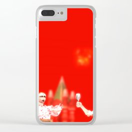 SquaRed: Fireworks Clear iPhone Case