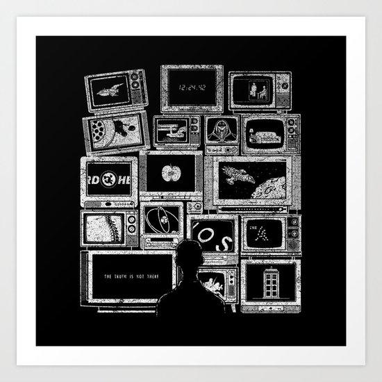 TV Addict Art Print