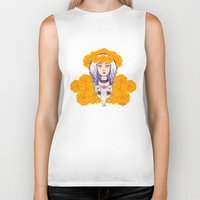 day of the dead Biker Tanks featuring Day of the Dead by Andrea Estrada