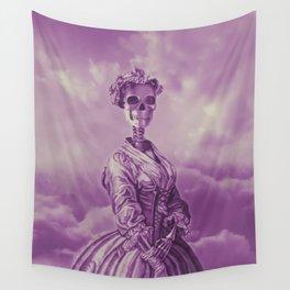Lady Bonehead VINTAGE PURPLE / Skeleton portrait Wall Tapestry