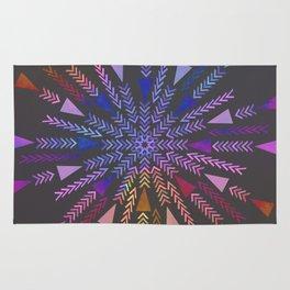 Multicolored geometric firework Rug