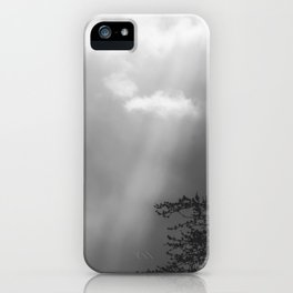 Dramatic Sunbeams #blackwhite iPhone Case