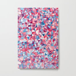 Colorful Low Poly Design Metal Print