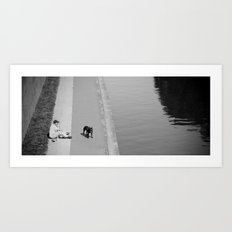 way out in the water... Art Print