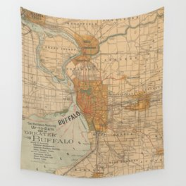 Vintage Map of Buffalo NY (1893) Wall Tapestry