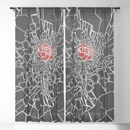 The Shattered Rose Sheer Curtain