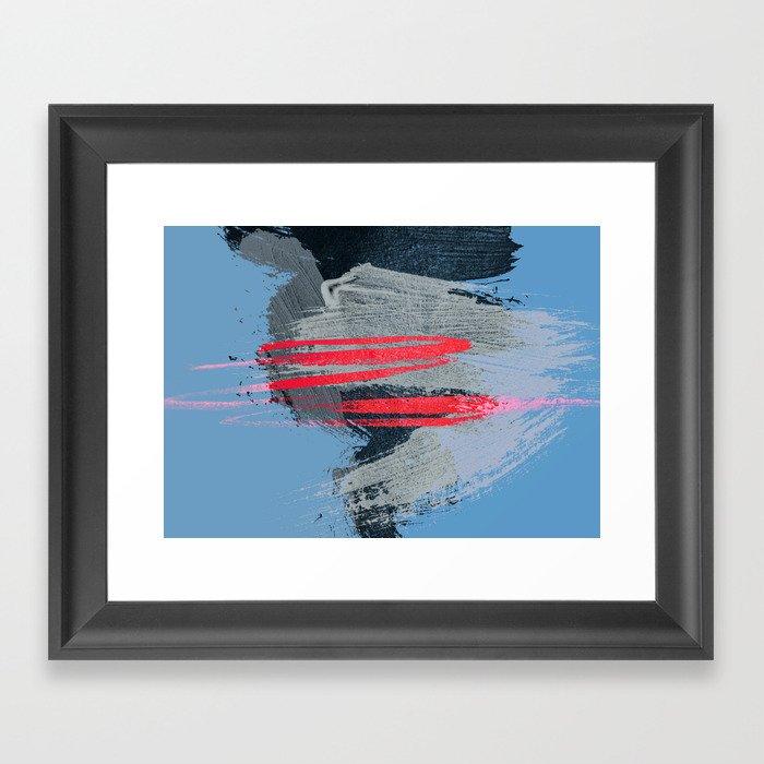 Red Tempest Framed Art Print